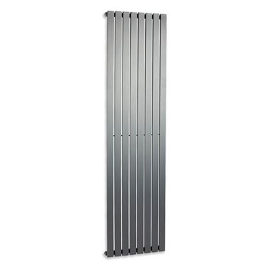 Brenton Flat Single Panel Vertical Radiator - 1800 x 475mm - Anthracite