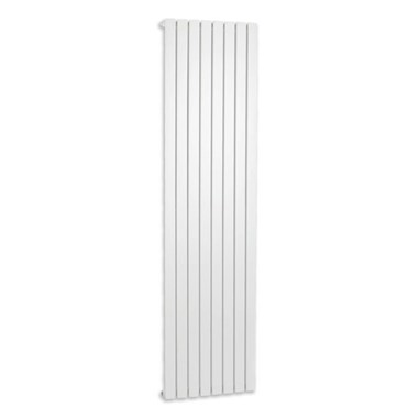Brenton Flat Single Panel Vertical Radiator - 1800 x 480mm - White