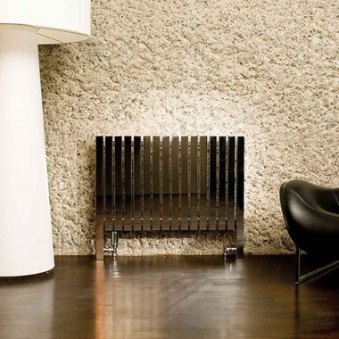 Aeon Arat Stainless Steel Floor Mounted Horizontal Designer Radiator - Polished