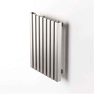 Aeon Arat Stainless Steel Wall Mounted Horizontal Designer Radiator - Brushed
