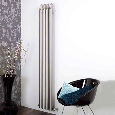 Aeon Bamboo Stainless Steel Wall Mounted Vertical Designer Radiator