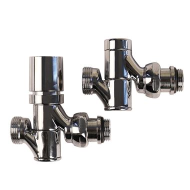 Aeon Decor TRV Swivel Radiator Valve Pair - 15mm - Chrome