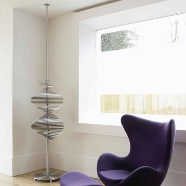 Aeon Ecstasy Stainless Steel Floor Mounted Vertical Designer Radiator - Brushed - 2200-3000 x 500mm