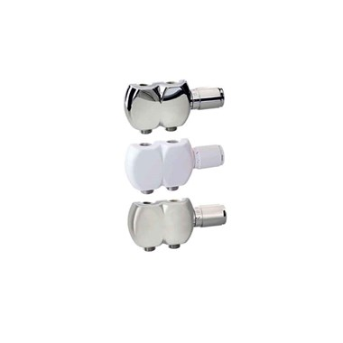 Aeon Interaxial TRV Swivel Radiator Valve Pair - 15mm - Grey