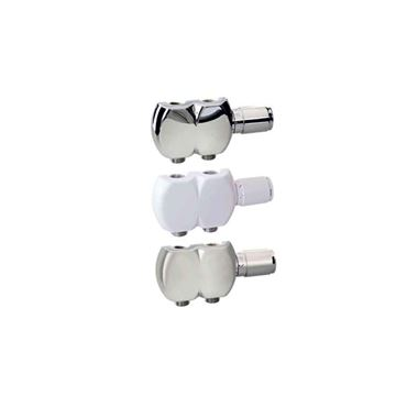 Aeon Interaxial TRV Swivel Radiator Valve Pair - 15mm - Chrome