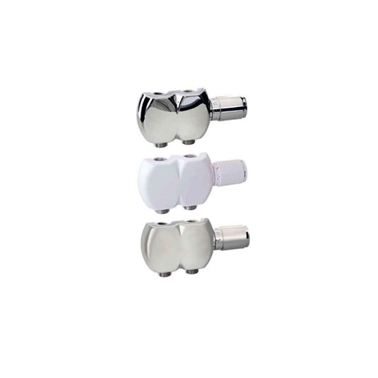 Aeon Interaxial TRV Swivel Radiator Valve Pair - 15mm