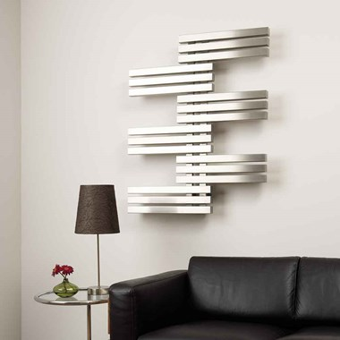 Aeon Labren Stainless Steel Wall Mounted Designer Radiator - 975 x 800mm