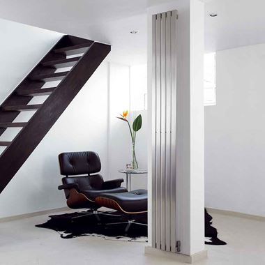 Aeon Lunar Stainless Steel Vertical or Horizontal Designer Radiator - Brushed