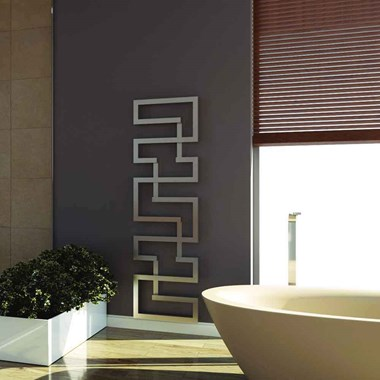 Aeon Maze Stainless Steel Wall Mounted Vertical Designer Radiator