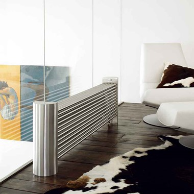 Aeon Ottoman Stainless Steel Free Standing Designer Radiator - Polished