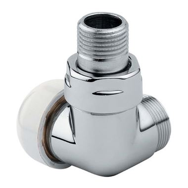 Aeon Corner TRV Radiator Valve - 15mm - Chrome