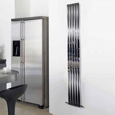 Aeon Twister Stainless Steel Vertical Designer Radiator