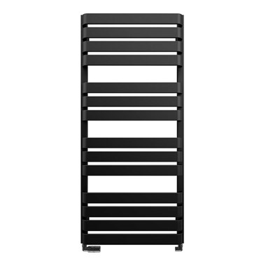 Crosswater Celeste Designer Heated Towel Rail - Metallic Black Matte - 1100x500