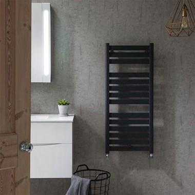 Crosswater Edge Flat Panel Heated Towel Rail - Anthracite