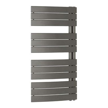 Crosswater Essence Curved Flat Panel Designer Heated Towel Rail - Anthracite