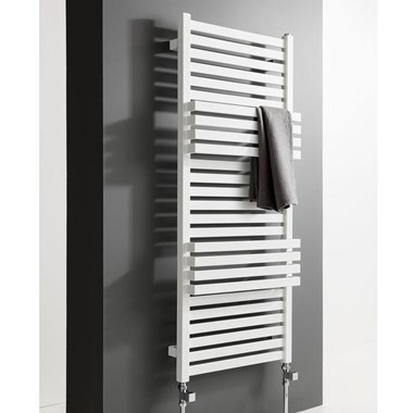 Crosswater Seattle Designer Heated Towel Rail - Soft White Matte - 1185 x 500mm