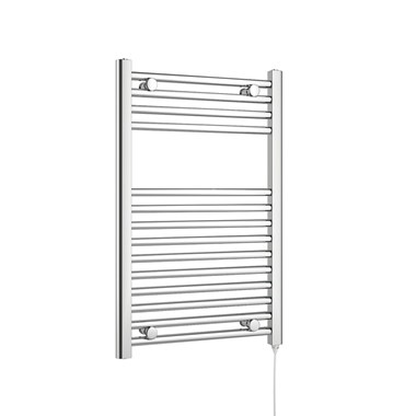 Brenton Apollo Electric Straight Heated Towel Rail - 22mm - 800 x 500mm - Thermostatic Element