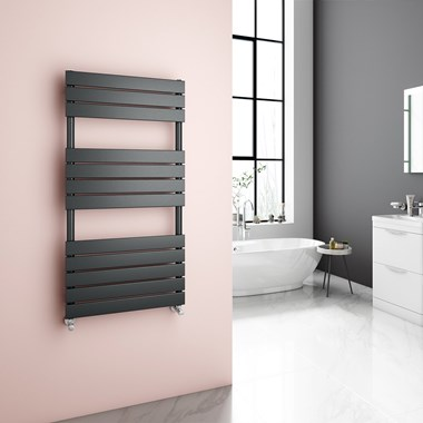 Brenton Avezzano Anthracite Flat Panel Heated Towel Rail