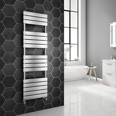 Brenton Avezzano Chrome Flat Panel Heated Towel Rail