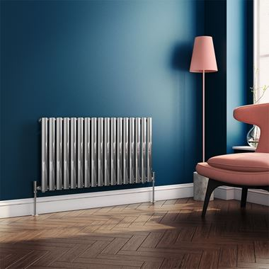 Brenton Oval Single Panel Horizontal Radiator - Polished Chrome