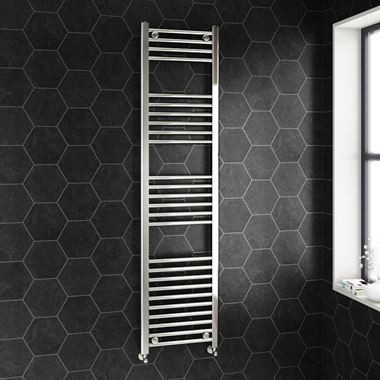 Brenton Chrome Straight Ladder Towel Radiator - 22mm