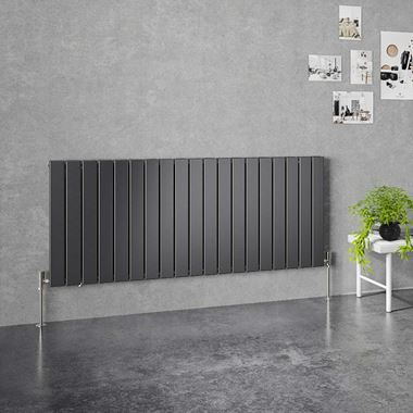 Brenton Flat Double Panel Horizontal Radiator - 600mm x 1402mm