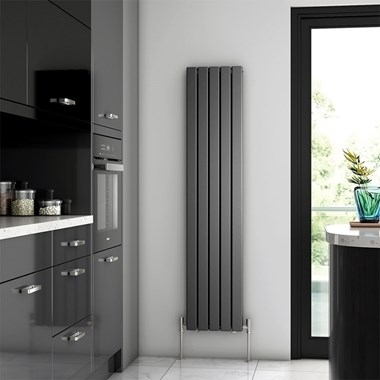 Brenton Flat Double Panel Vertical Radiator - 1600mm x 340mm