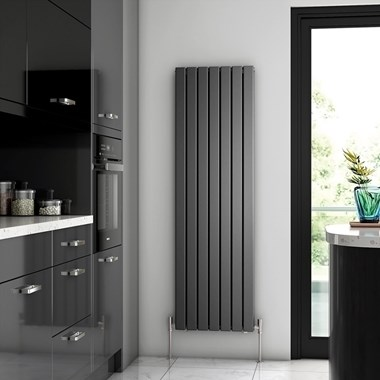 Brenton Flat Double Panel Vertical Radiator - 1600mm x 475mm