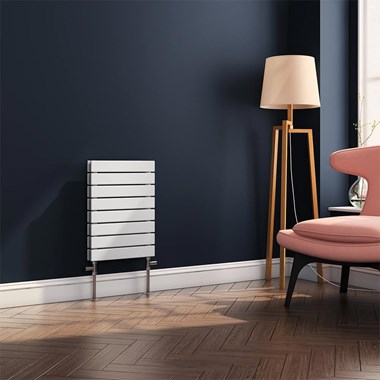 Brenton Ruby Flat Panel Horizontal Panel Radiator - White