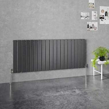 Brenton Flat Single Panel Horizontal Radiator - 635mm x 1402mm