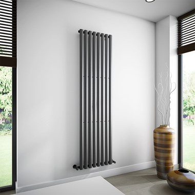 Brenton Oval Single Panel Vertical Radiator - 1800 x 472mm