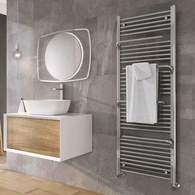 Brenton Peak Chrome Heated Towel Rail - 1500 x 550mm
