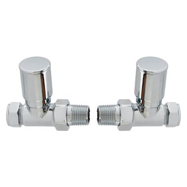 Brenton Chrome Round Straight Radiator Valves