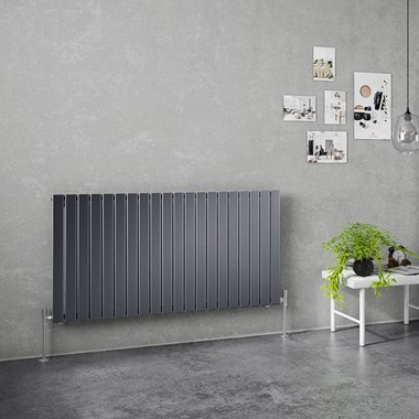Brenton Flat Single Panel Horizontal Radiator - 635mm x 1200mm