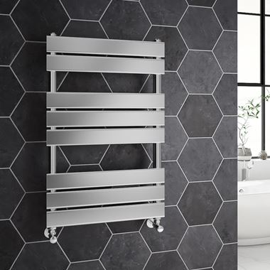 Brenton Sundoro Flat Panel Straight Heated Designer Towel Rail