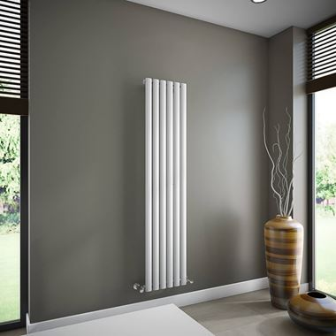 Brenton Oval Single Panel Vertical Radiator - 1600mm x 360mm