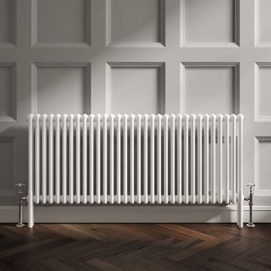 Butler & Rose Horizontal Designer Column White Radiator - 600 x 1460mm