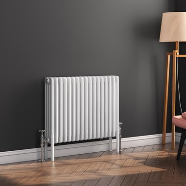 Butler & Rose Horizontal Designer 4 Column White Radiator - 500 x 785mm