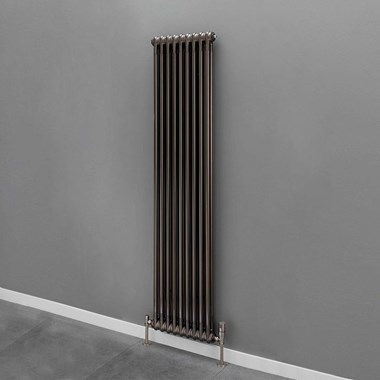 Butler & Rose 2 Column Vertical Radiator - Bare Metal Lacquer Finish - 1800 x 204mm