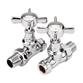 Butler & Rose Bronte Chrome Straight Radiator Valves