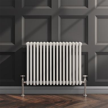 Butler & Rose Horizontal Designer Column White Radiator - 600 x 785mm
