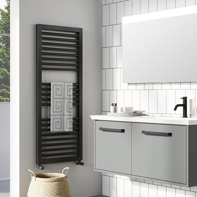 Crosswater Infinity Heated Towel Rail - 1228 & 1813 x 500mm
