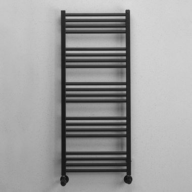 Crosswater MPRO Matt Black Heated Towel Rail - 1140 x 480mm