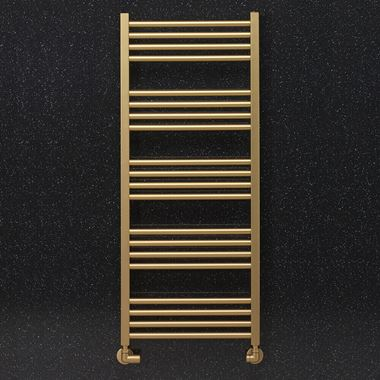 Crosswater MPRO Brushed Brass Heated Towel Rail - 1140 x 480mm