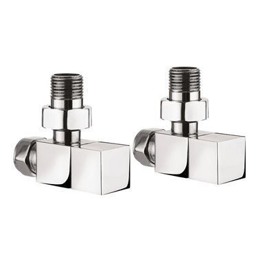 Crosswater Square Angled Radiator Valves
