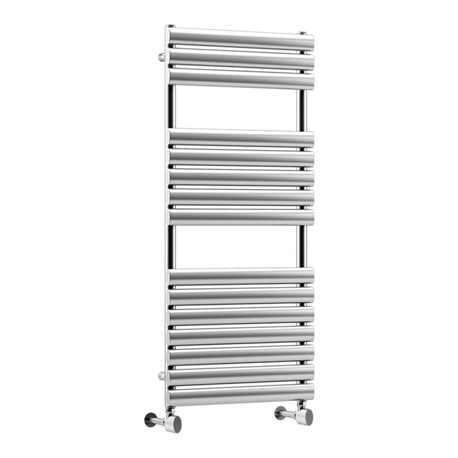 DQ Heating Cove Polished Stainless Steel Vertical Designer Heated Towel Rail