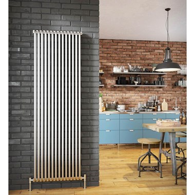 DQ Heating Aviso Aluminium Vertical Designer Radiator - White