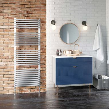 DQ Heating Axial White Heated Towel Rail - 1780 x 540mm