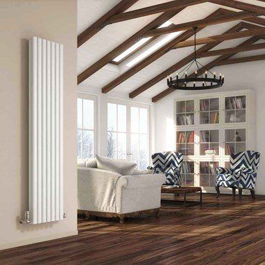 DQ Heating Cove Double Panel Mild Steel Vertical Designer Radiator