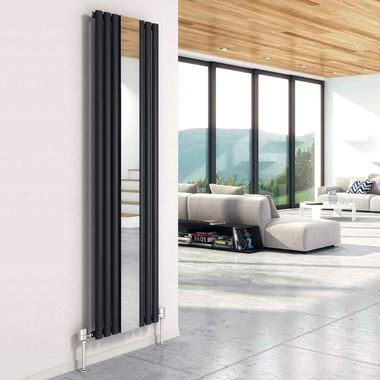 DQ Heating Cove Mirror Mild Steel Vertical Designer Radiator
